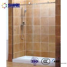 tempered glass easy installation 10mm thick shower doors glass framelesslike