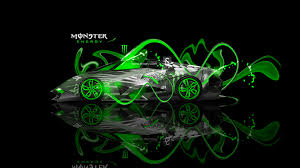monster energy lamborghini egoista fantasy neon plastic car