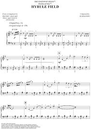 legend of zelda piano sheet music the legend of zelda ocarina of time hyrule field sheet music