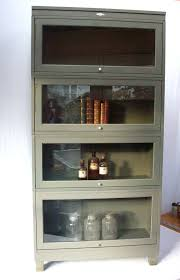stunning metal bookcase with glass doors living room and bedroom with cabinet and stairs