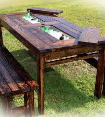 farmhouse cooler table pine main