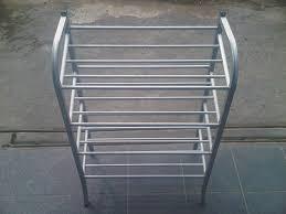 rak sepatu aluminium: Jemuran handuk sayap dan rak sepatu 4 susun 100 aluminium