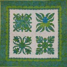 Quilt Inspiration: Hawaiian Quilts & Here's a quilt which is as lushly green and refreshing as a Kauai  rainforest. This four block quilt is a variation on the traditional Hawaiian  wholecloth ... Adamdwight.com