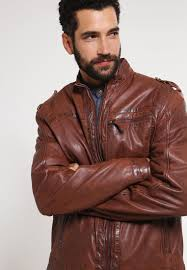 men jackets mustang joffre leather jacket dark tan mustang jeans mustang