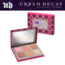 limited edition urban decay sin afterglow 8 hour highlighter blush face palette