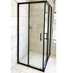 matt black 900 x 900mm 1000 x 1000mm shower screen with double sliding door
