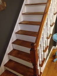 we kept the newel post wooden but you could paint it a contrasting color