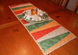 10 FREE Table Runner Quilt Patterns You'll Love & Angled Stripes Table Runner Adamdwight.com