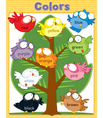 Classroom Wall Decoration With Charts Owl Pals Colors Chart Product Image Preschool Classroom