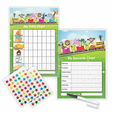 Details About Magnetic Animal Train Reward Potty Chart Twin Set Inc Free Pen And Stickers