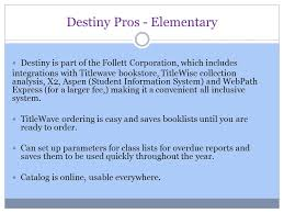 Destiny Vs Tlc A List Of Pros And Cons Of Each Library Automation
