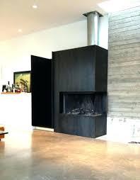 fireplace doors at home depot blackened steel surround custom design mountain industrial photo