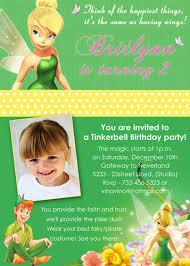 Tinkerbell Invitation Tinkerbell Disney Fairy Custom Birthday Invitation A