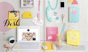 colorful office accessories. Modren Office Accessorizing A Desk Twoinspiredesign With Colored Accessories Remodel 12 To Colorful Office U