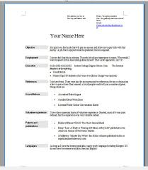 Resume Purdue Owl Resume For Your Job Application