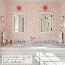 wallpaper bathroom, Pink laundry rooms ...