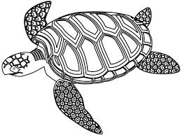 Small Picture Mozaic Green Sea Turtle Coloring Page Download Print Online