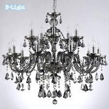 luxury crystal and black chandelier or cognac smoke black top luxury arms large crystal chandeliers re