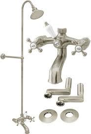 clawfoot tub shower fixtures. satin nickel clawfoot tub shower faucet w riser | ebay fixtures