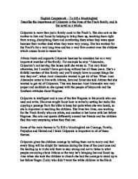 to kill a mockingbird describe the importance of calpurnia in  page 1 zoom in