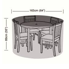cover up 4 seater circular patio set cover 163cm
