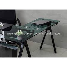 office side table. China Design/modern, Home/office Furniture, Tempered Glass Metal Square  Frame Office Side Table