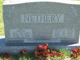 Effie Lee Nethery (Noel) (1898 - 1979) - Genealogy