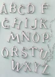 vintage alphabet pendants in a to z