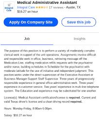 6 Duties Medical Administrative Assistant Job Descriptions