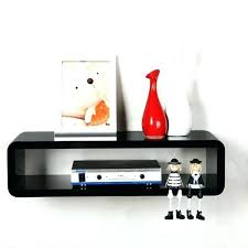 floating box wall shelves white cube mounted shelf black gloss home mount