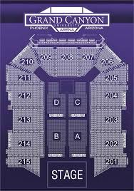 University Of Phoenix Seating Chart Find Your Seats At Grand Canyon University Arena Grand