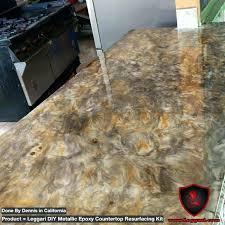 countertop coating reviews metallic check out our metallic resurfacing kits you metallic