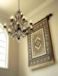 hanging rugs ideas chic idea how to hang a rug on the wall what width of