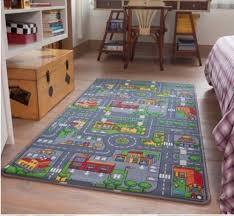 large city car race play mat rug kids boys road farm non slip backing playmat uk