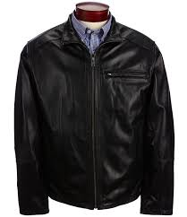 mens good s roundtree yorke lambskin leather jacket with black b10l1041
