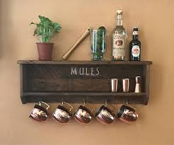 Bar Accessories And Decor Mule Shelf Mule Mug Display Bar Accessory Bar Decor Home Bar 81
