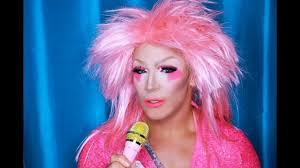 cosplay jem and the holograms halloween drag queen makeup tutorial mathias4makeup you