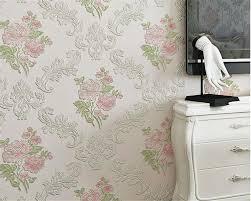 Beibehang Luxury Europe Idyllic Pink Blue Wallpaper 3d Living Room