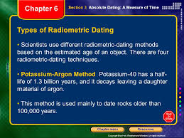 different types radiometric dating