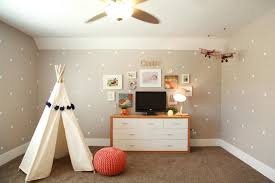 delicate kids play room with polka dots