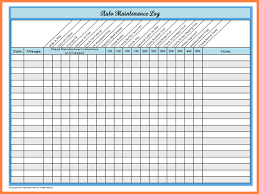 Car Maintenance Schedule Spreadsheet Vehicle Maintenance Log