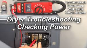 how to check the power to your dryer not heating or not running Wiring For Marathon 3 4 Hp Dryer Motor how to check the power to your dryer not heating or not running youtube