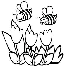 Printable Coloring Pages Flowers Spring Flowers Coloring Pages