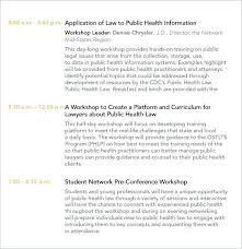 Conference Agenda Template | Nfcnbarroom.com