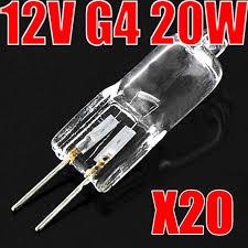 TSLEEN 40PCS <b>Halogen G4</b> Lamp Light Bulbs 12V 20W <b>JC Type</b> ...