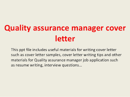 Cover Letter Quality Assurance Manager Experience Resumes