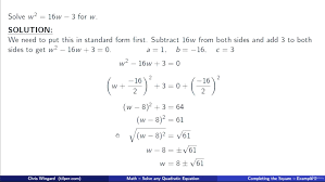quadratic equation solved math gcse maths quadratic equation questions