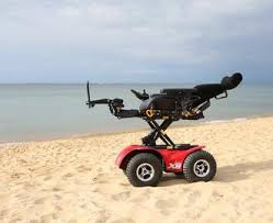 x extreme power wheelchair x innovation in motion extreme x8 4x4 on beach tilt electric wheelchair innovation in motion