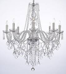 pendant and chandelier lighting. Crystal Chandelier Lighting 33ht X 28wd 8 Lights Fixture Pendant Ceiling Lamp And