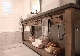 Best Bath Decor bathroom vanities restoration hardware : Bathroom Remodel: Restoration Hardware Hack - mercantile console ...